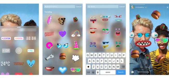 Instagram Hikayeler Bölümüne GIF Çıkartmaları Güncellemesi