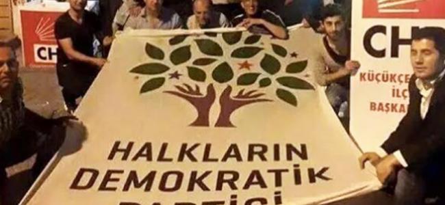 HDP heyeti CHP için oy istiyor
