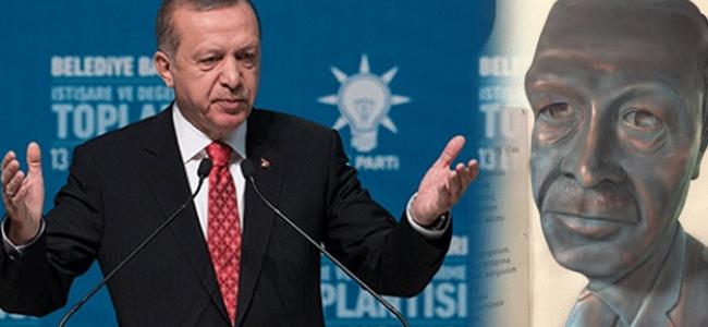 Heykel için Erdoğan bu bizim ilkelerimize terstir dedi