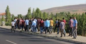 Kırşehir'deki Fabrika İşçilerinden Yemek Eylemi Yürüyüşü