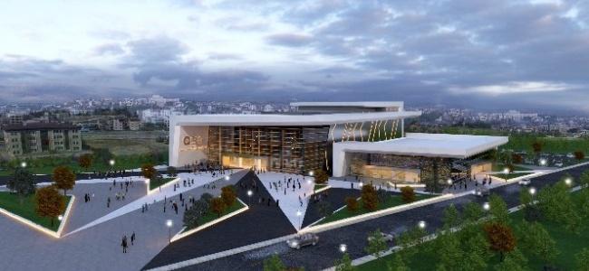 Serik Kültür Merkezi'nde inşaat sürüyor