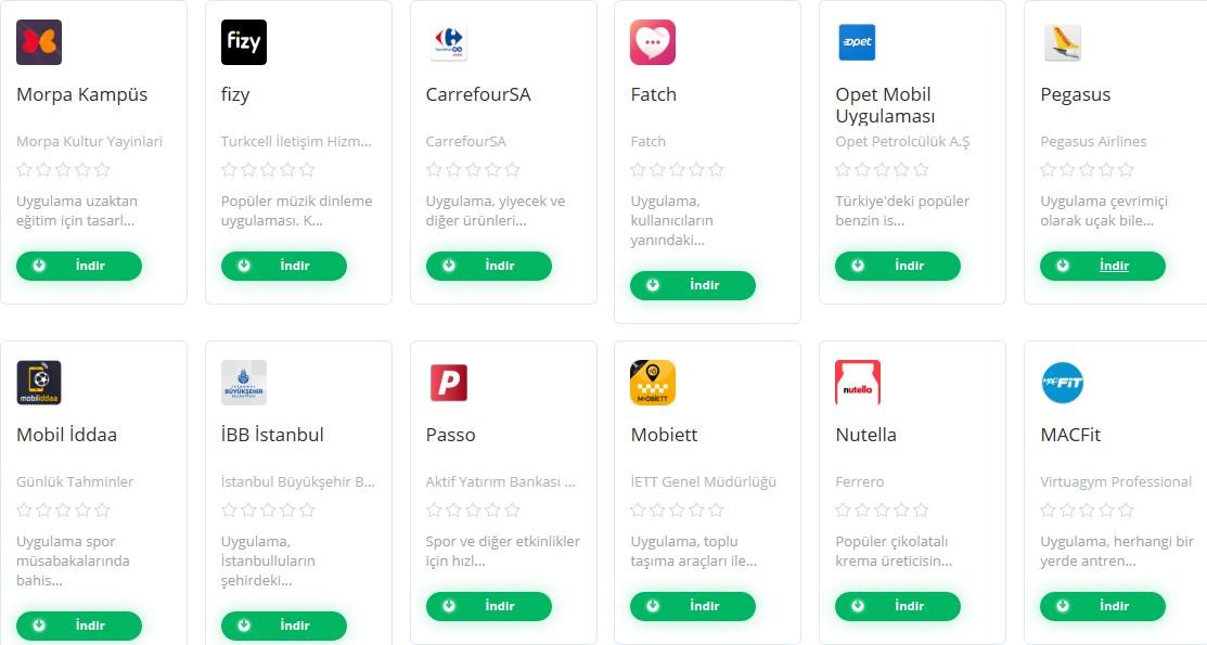 Android ve IOS cihazlarına ait uygulama