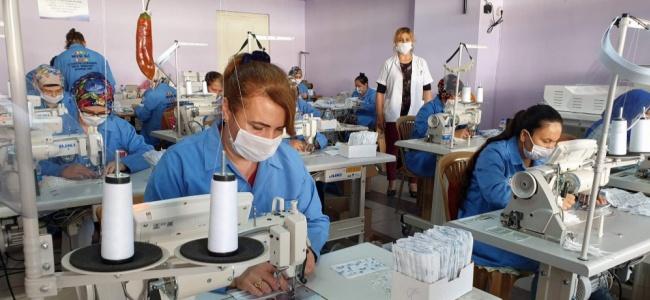 Fabrika Gibi Çalıştılar, 162 Bin Maske Ürettiler