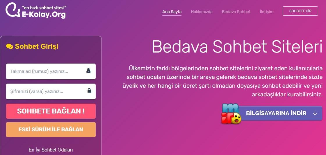 Kolay Chat Sitesi, Mobil Sohbet Odaları